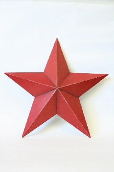 Wall Dec, Shapes , WALLMOUNT 5-POINTED STAR, WOOD, RED
