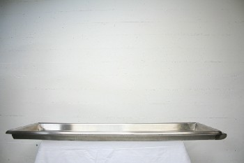 Medical, Morgue, TRAY FOR BODY,1 END HANDLE (Not Exactly As Pictured), STAINLESS STEEL, SILVER
