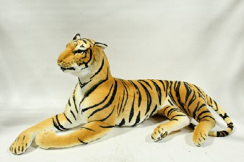 Toy, Animal, OVERSIZED STUFFED TIGER,XL CARNIVAL/ARCADE PRIZE, 5 FT WIDE , PLUSH, ORANGE