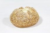 Food, Bakery (Fake), FAKE FOOD, REALISTIC ROUND BREAD W/SEEDS, FOAM, BROWN